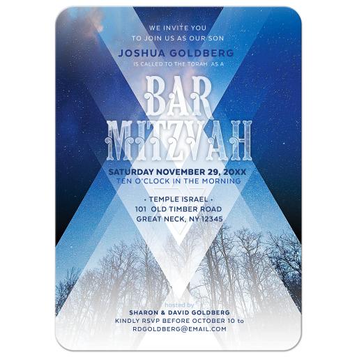 Modern Bar Mitzvah Invitation Flyer