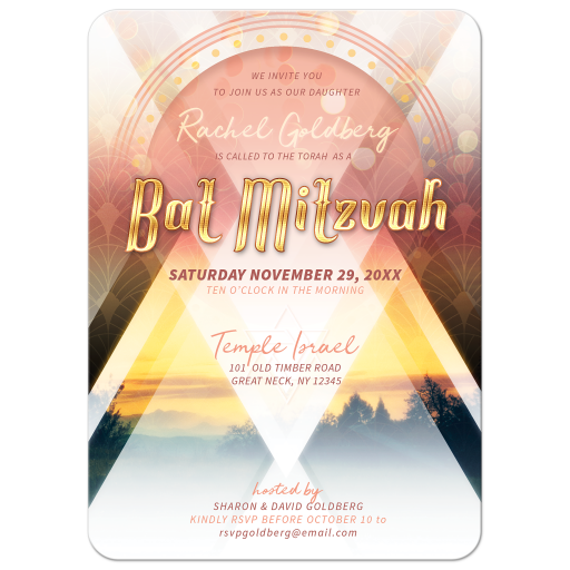 Festival Love Modern Bat Mitzvah Invitation