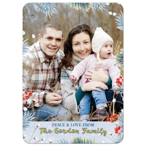 Unique Nutcracker ballet family photo Christmas greeting card back