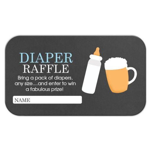 Baby is Brewing BBQ Boy Baby Shower Diaper Raffle Ticket