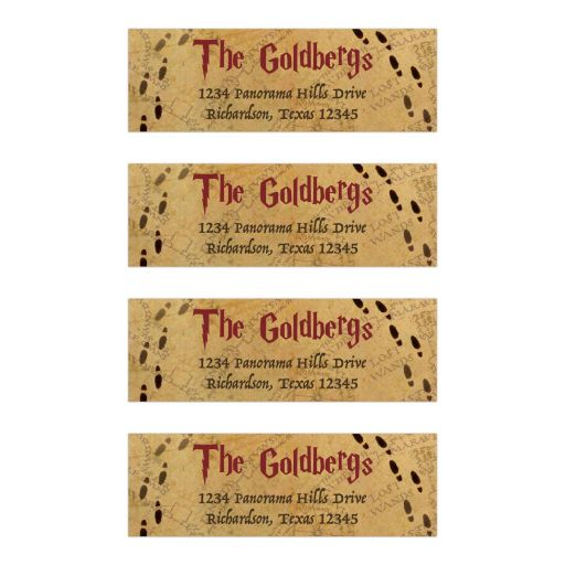 ​Fun wizarding world wizard witch school of magic Bat Mitzvah address labels