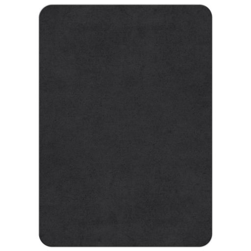Back of dark grey bar mitzvah invitations with urban grunge texture