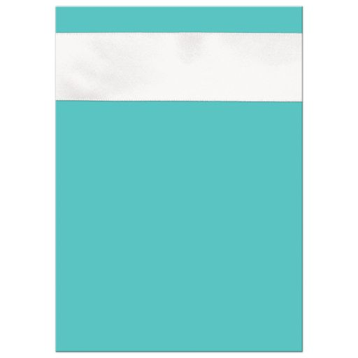 Tiffany Blue and White wedding shower Invitations with White Ribbon and Bow, Jewels, and Glitter.