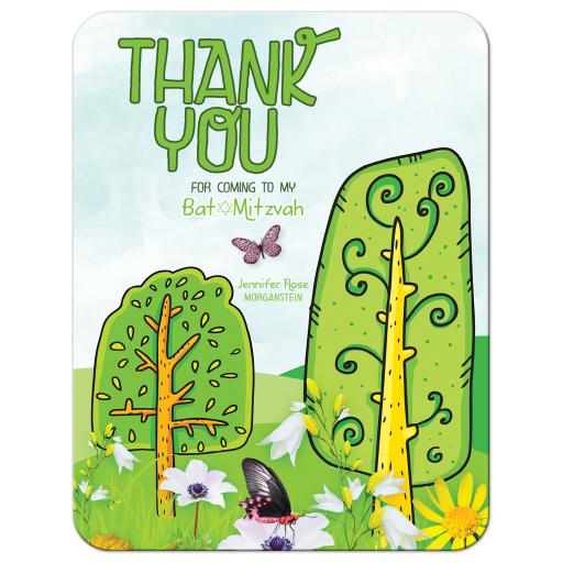 Trees of Life Thank You Cards