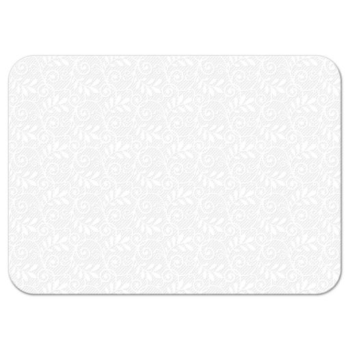 White lace, gold, and silver grey Bat Mitzvah RSVP card back