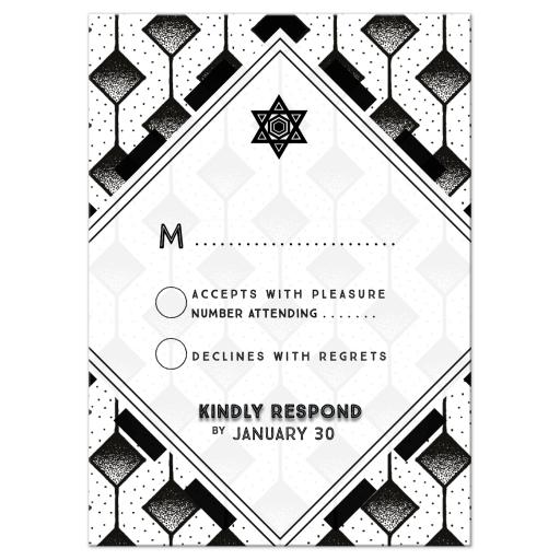 Modern Geometric Black and White Bar Mitzvah Suite