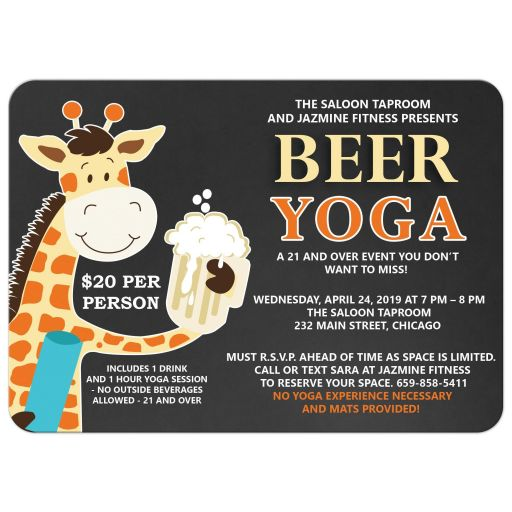 Beer Yoga Event Invitations