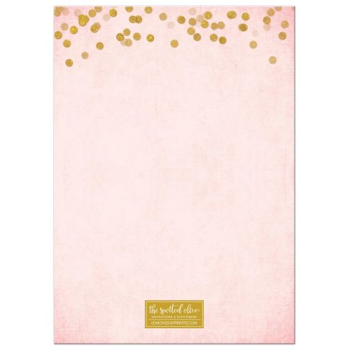 Paris Pink & Gold Bat Mitzvah Save The Dates by The Spotted Olive - Back