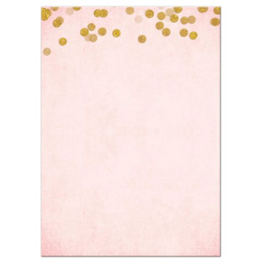 Paris Pink & Gold Bat Mitzvah RSVP Cards by The Spotted Olive - Back