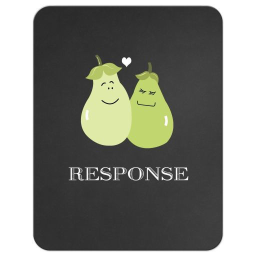 A Perfect Pair Wedding Response RSVP Card