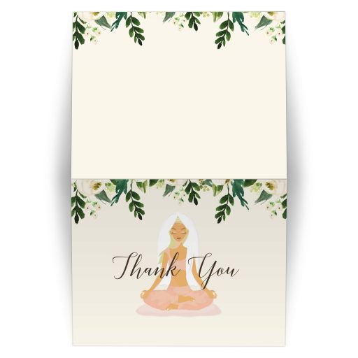 Yoga Bridal Shower Thank you Notecard