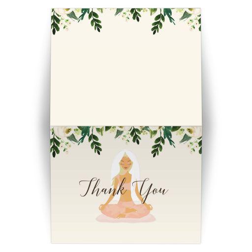 Yoga Bridal Shower Thank you Notecard