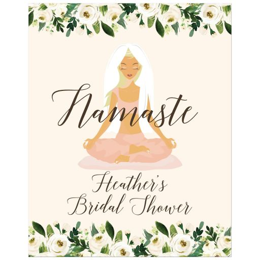 Yoga Bridal Shower Custom Party Sign