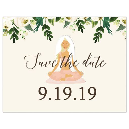 Yoga Bridal Shower Save the Date Postcard