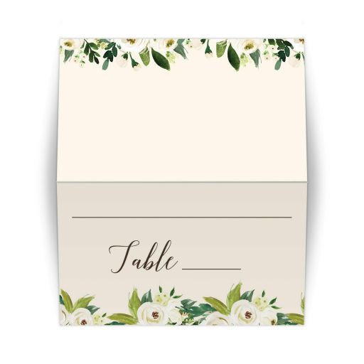 Yoga Bridal Shower Table Number Place Card