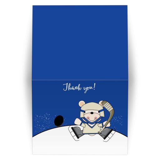 Polar Bear Hockey Thank you note