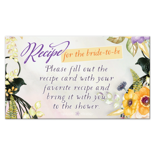 Floral Birdcage Bridal Shower Enclosure Card | Customize with your text