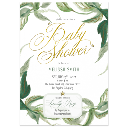 Nature Lover Greenery Baby Shower Invitation