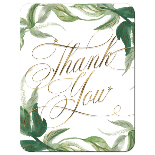 Greenery Thank You card suitable for any event