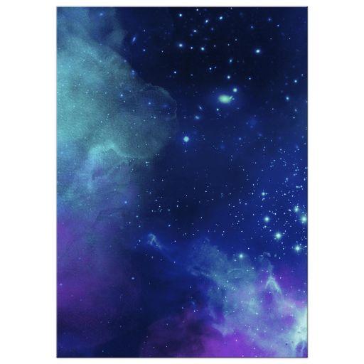 purple blue stars sky bat mitzvah invitation cards
