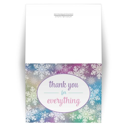 Thank You Cards - Rainbow Snowflake