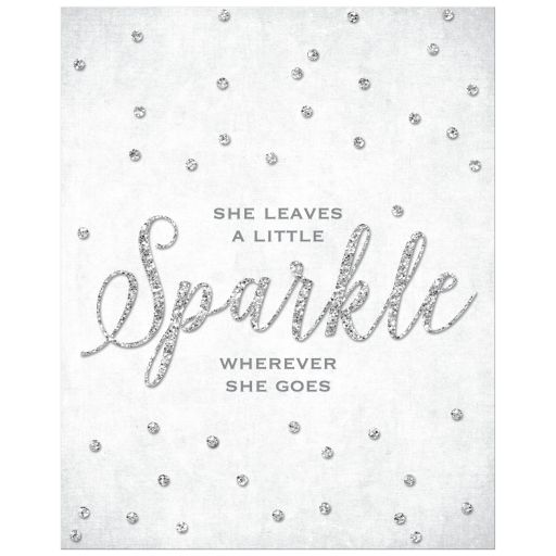 She Leaves A little Sparkle Art Print by The Spotted Olive