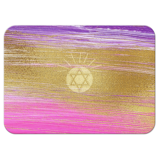 Star of David on pink purple gold background
