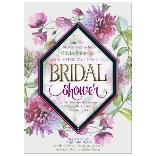 Purple Chrysanthemums Flowers Bridal Shower