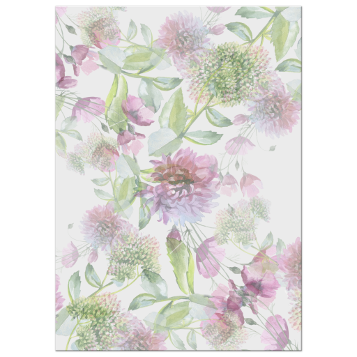 Purple Floral and Greenery Pattern Background