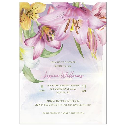 Pinkand Yellow Lilium Lillies