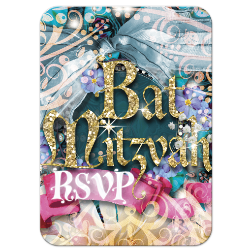 Fairytale Dreams Bat Mitzvah Response Reply Card
