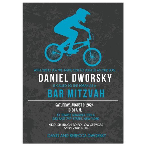 Bike Racing BMX Bar Mitzvah Invitation