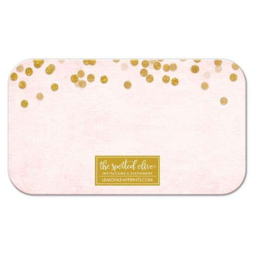 Blush Pink & Gold Books for Baby Cards by The Spotted Olive - Back