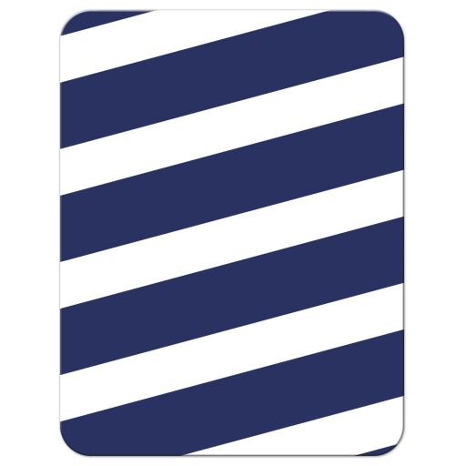 Navy Stripes & Gold Confetti Bat Mitzvah Reception Cards - Back
