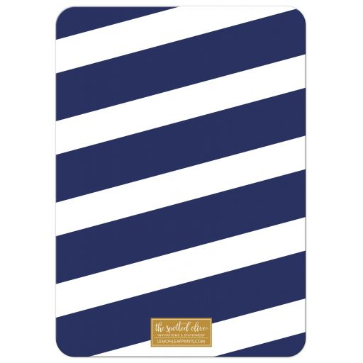 Navy Stripes & Gold Confetti Bat Mitzvah Save the Dates by The Spotted Olive