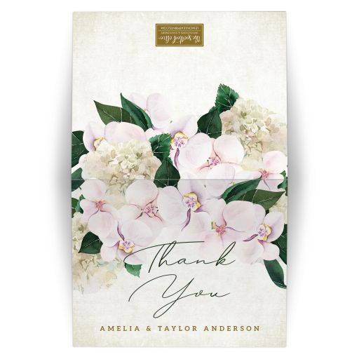 Pretty Blush Floral Thank You Cards by The Spotted Olive