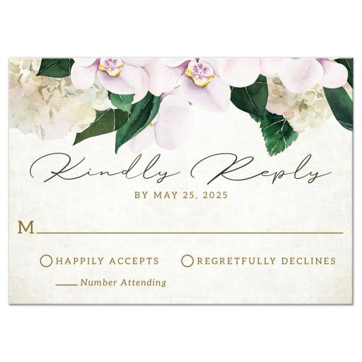 Pretty Blush Floral RSVP Cards by The Spotted Olive