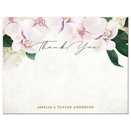 Pretty Blush Floral Personalized Note Cards by The Spotted Olive