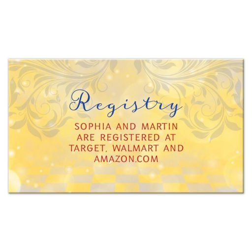 Fairy tale as old as time fairytale wedding registry card