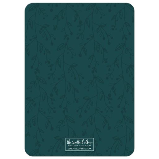 Socially Distanced Holiday Wishes Christmas Card by The Spotted Olive