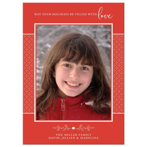 Filled With Love Holiday Card by The Spotted Olive