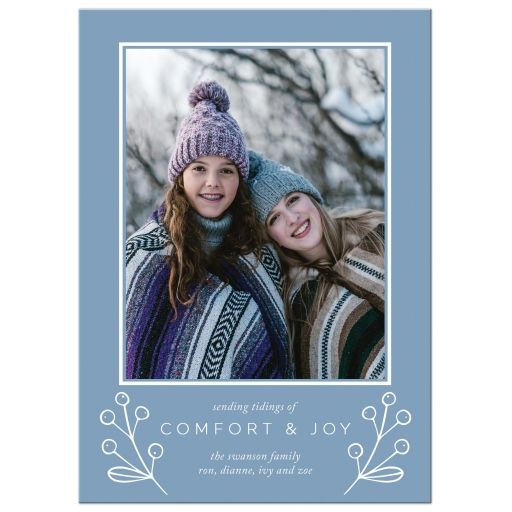 Comfort & Joy Holiday Card by The Spotted Olive