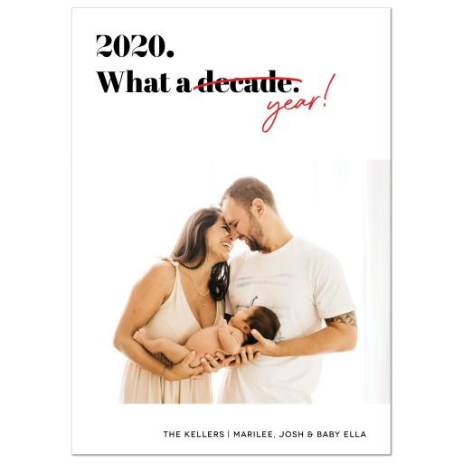 Funny 2020. What A Decade/Year! Holiday Card by The Spotted Olive