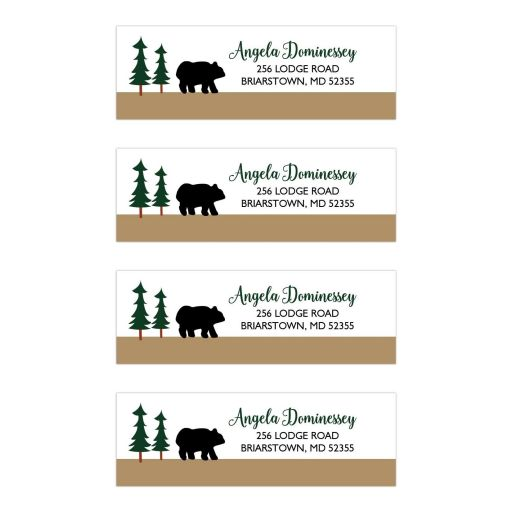 Rustic Bear Address Labels