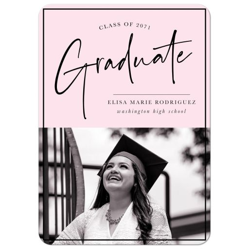 Signature Style Graduation Announcements by The Spotted Olive - Front