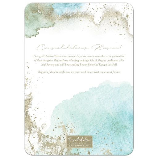 Ethereal Graduation Announcements by The Spotted Olive - Back