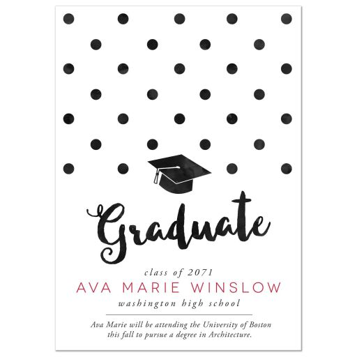 Big Polka Dots Graduation Announcements by The Spotted Olive