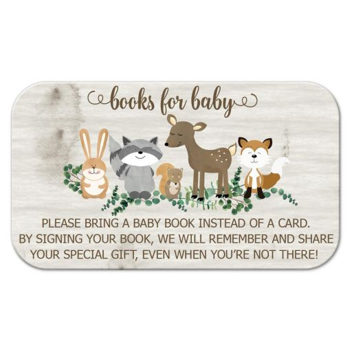 Books for Baby Neutral Woodland Animals Enclosure Card