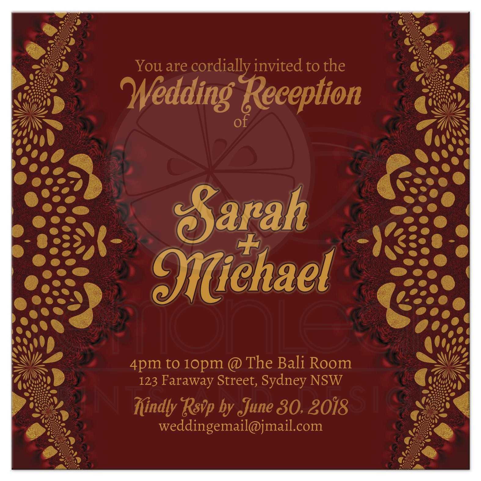 Warm Earth-i2 Tribal Batik Wedding Invitation