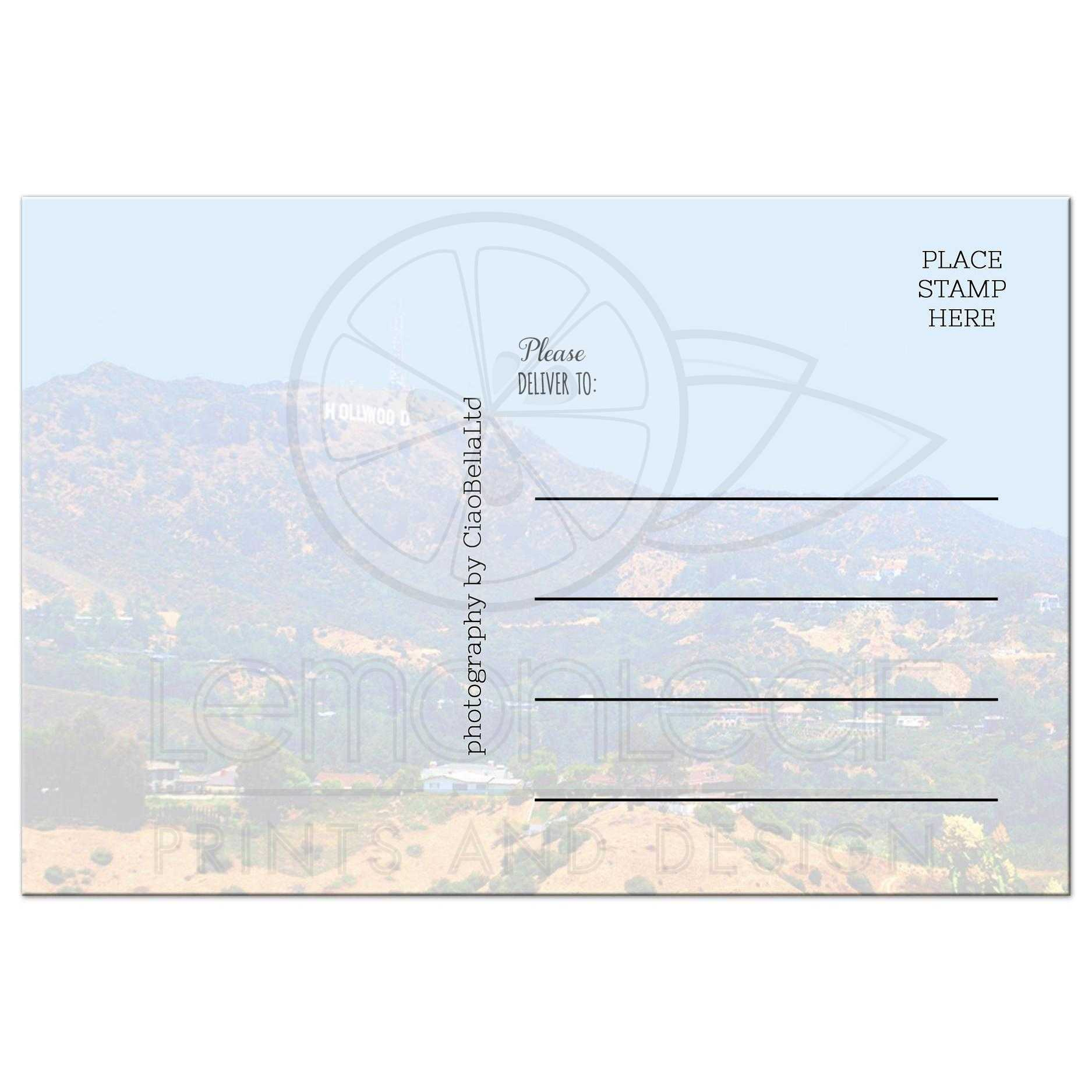 Historic Hollywood Sign Collectible Post Card